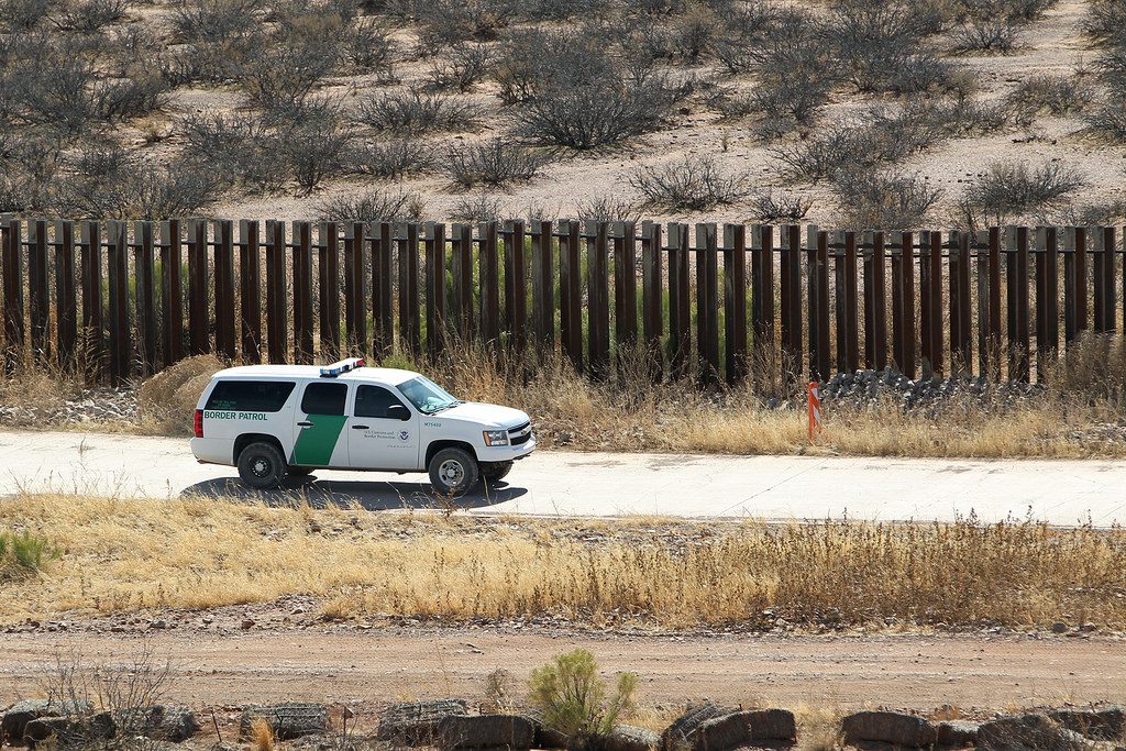 Border Patrol Takes Watch at Arizona Border Fence Line
