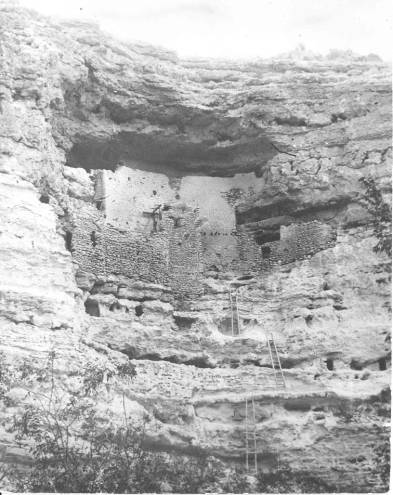 Pre 1897 photo of Montezuma's Castle