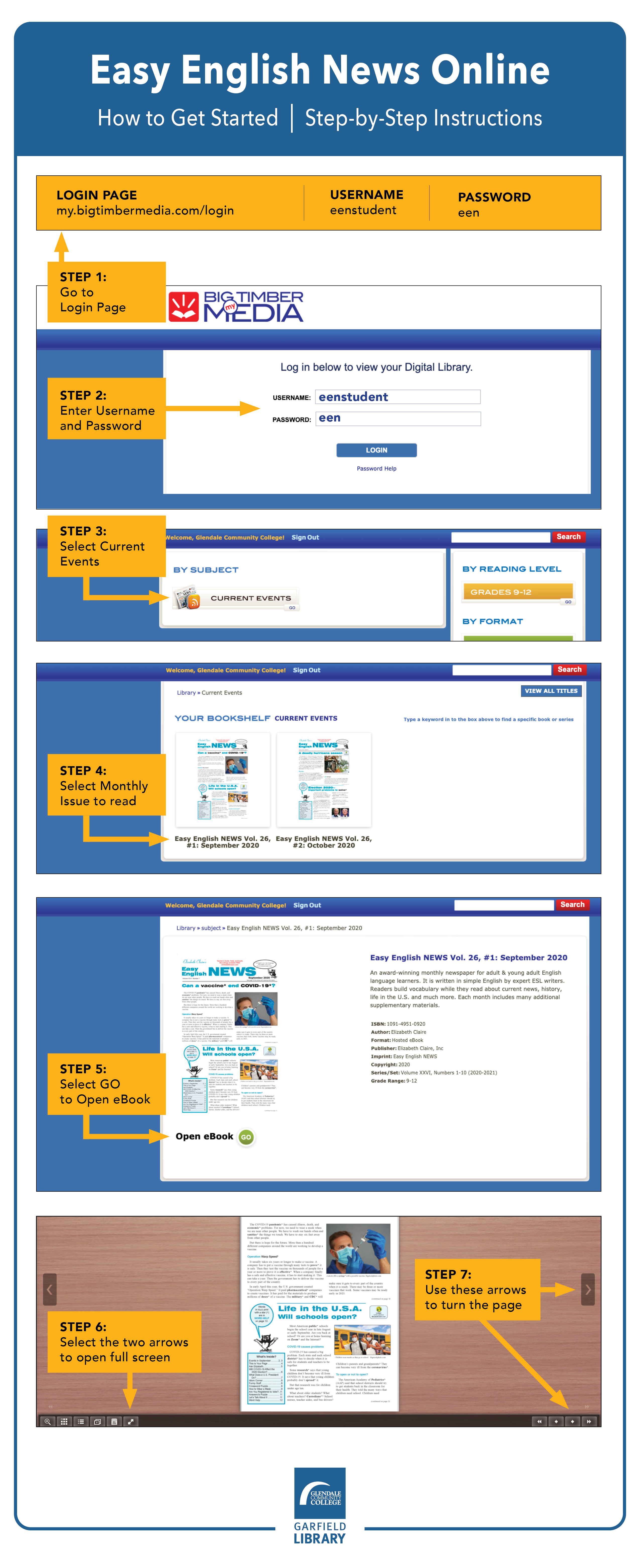 Easy English News Online Instructions