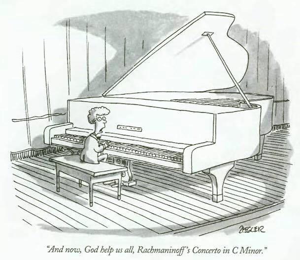 And now, God help us all, Rachmaninoff's Concerto in C Minor.