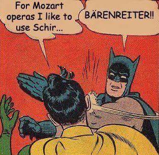 Mozart Schirmer Baerenreiter Bärenreiter