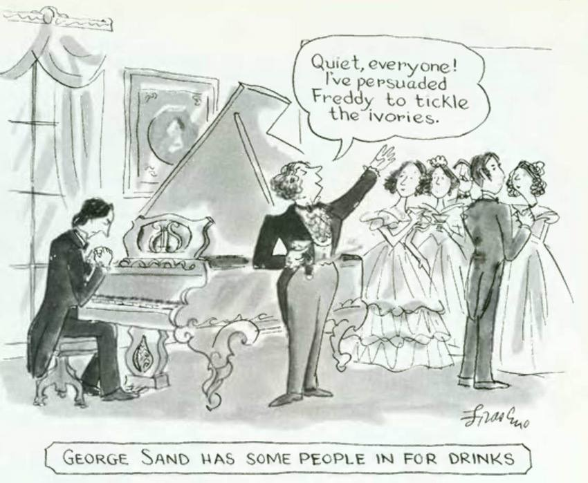 George Sand has some people in for drinks: