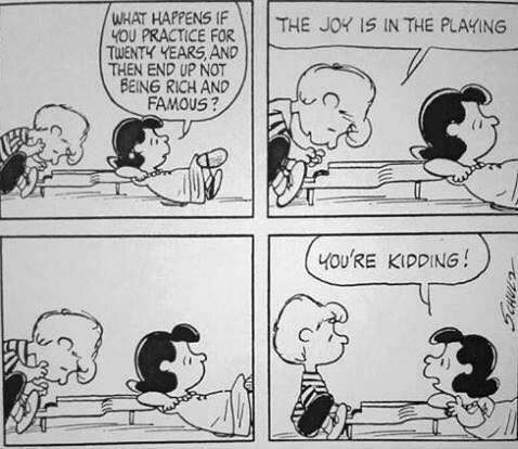 Peanuts. The joy is in the playing. You're kidding.