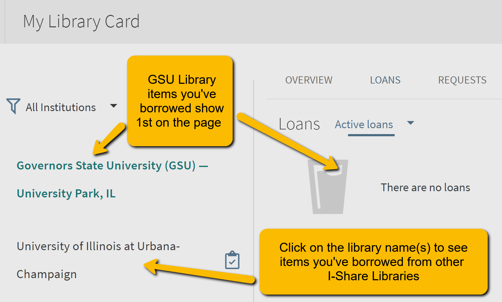 Click the I-Share library name