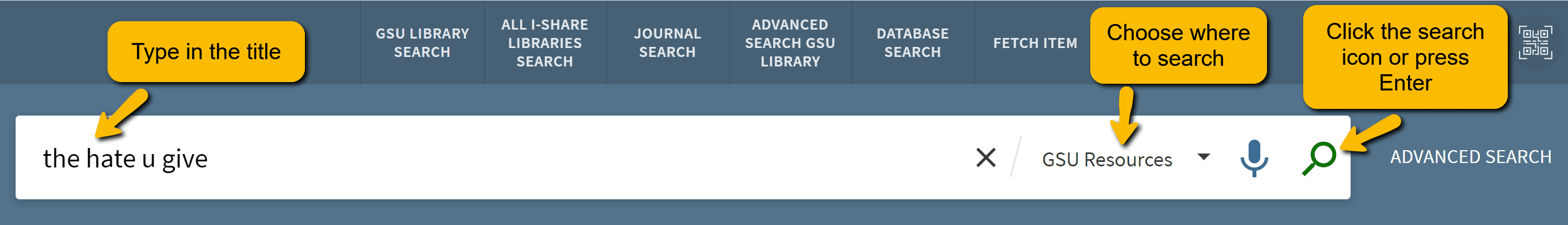 Searching the catalog by title
