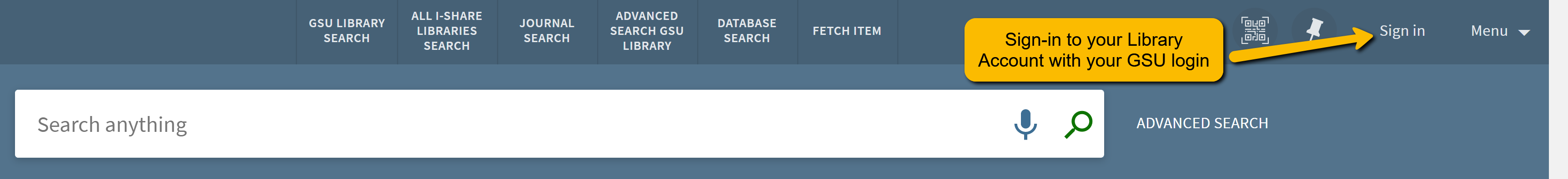 Sign-in to the library catalog