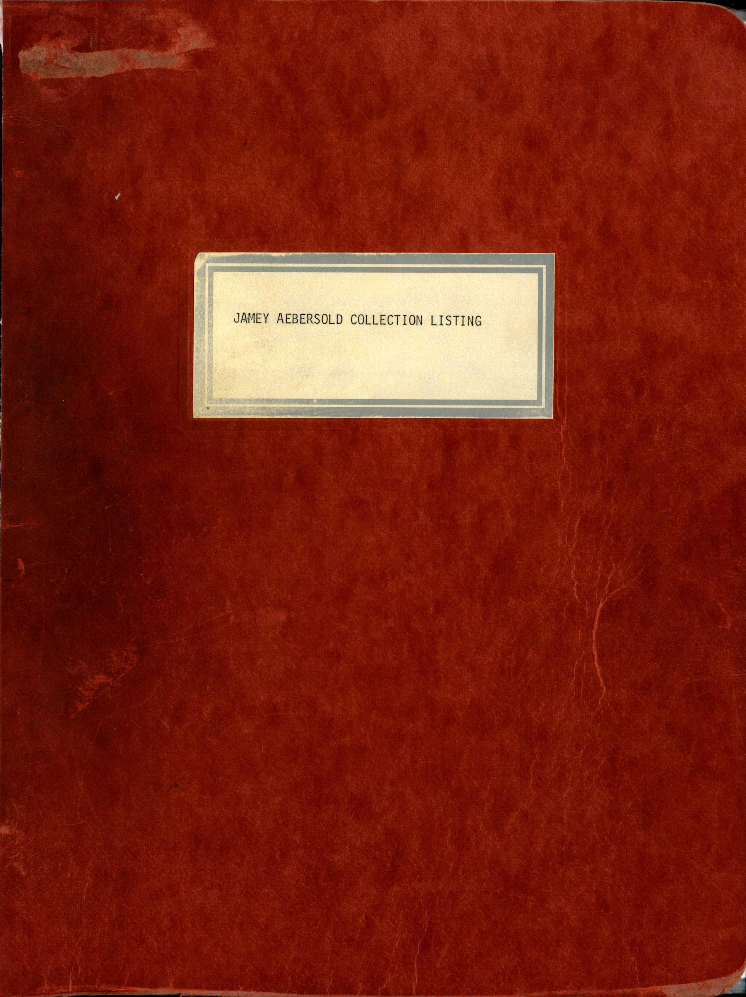 Cover of the Aebersold Jazz Collection