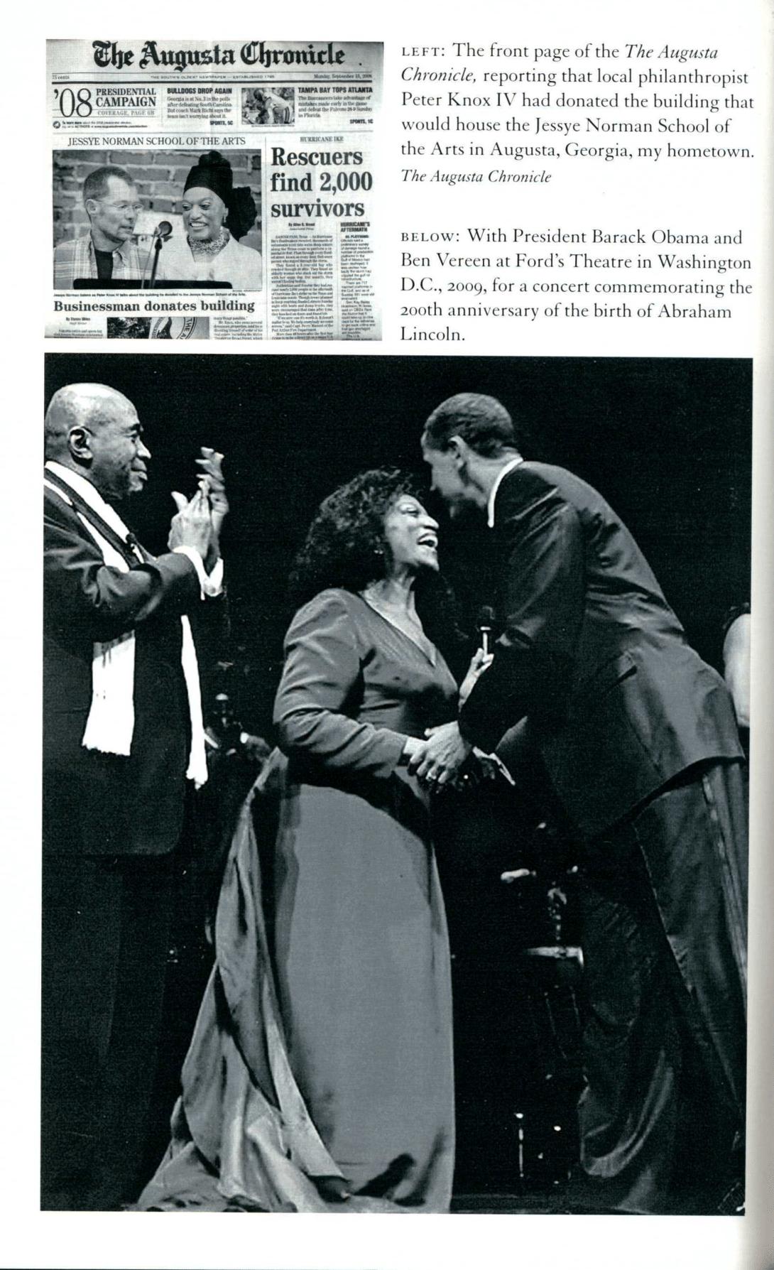 Jessye Norman, Barack Obama, and Ben Vereen