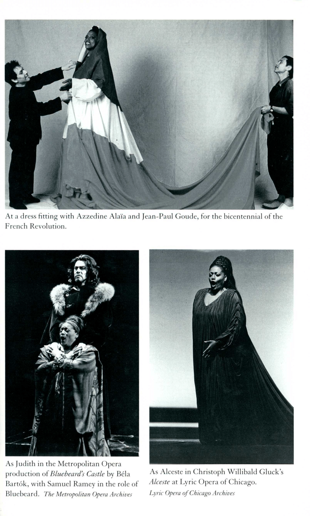 Pictures from Jessye Norman's autobiography
