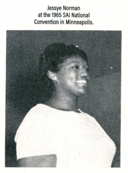 Young Jessye Norman in 1965