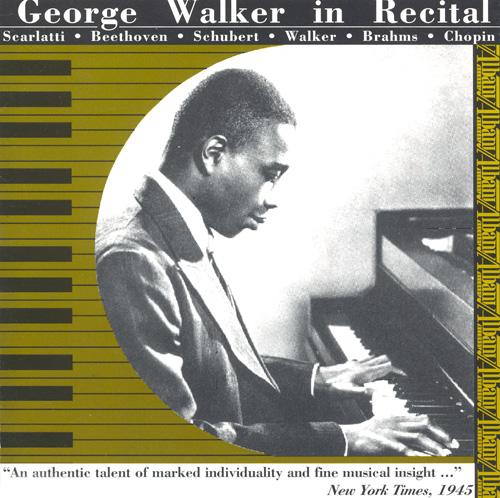 George Walker in Recital Album Art