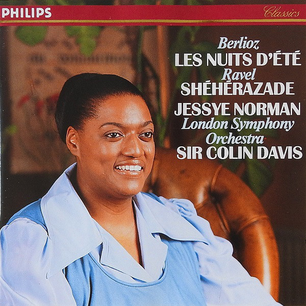 Berlioz Les Nuits D'etet and Ravel Sheherazade, Jessye Norman and the London Symphony Orchestra Album Art
