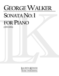 George Walker Sonata no. 1 for piano cover art