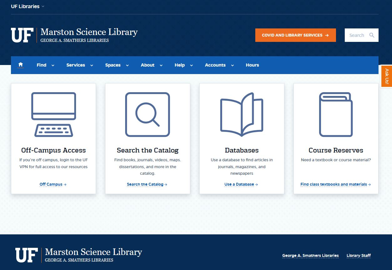 Marston Science Library Home Page