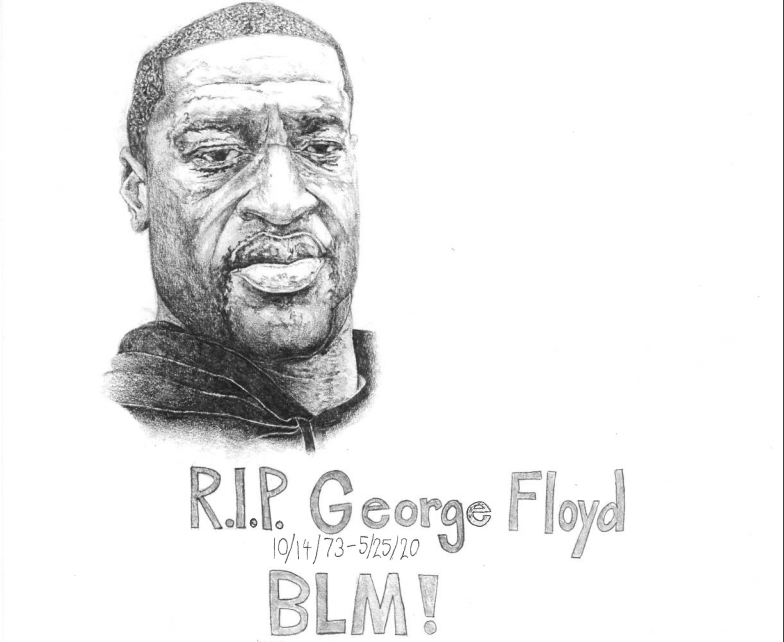 a drawing of George Floyd