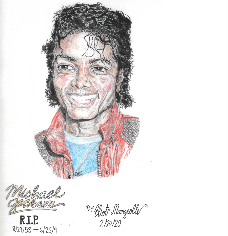 a drawing of Michael Jackson
