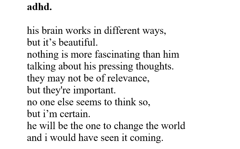 a poem about ADHD
