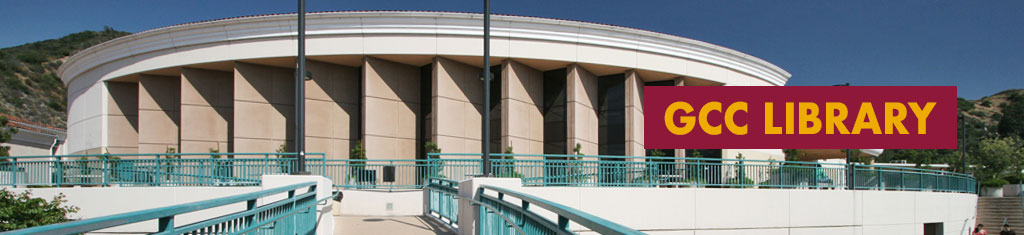front side of GCC library building columns