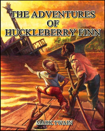 The adventures of Huckleberry Finn book cover