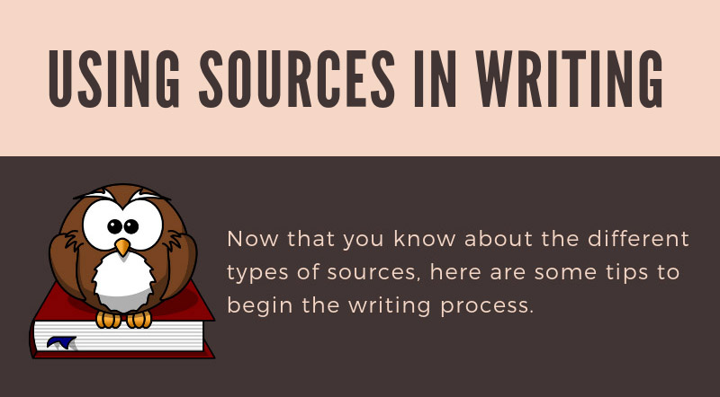 Using sources in writing image
