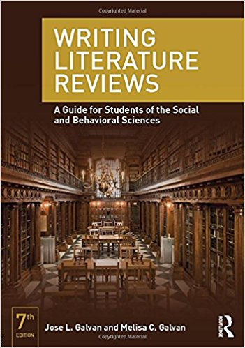 Writing literature reviews book cover