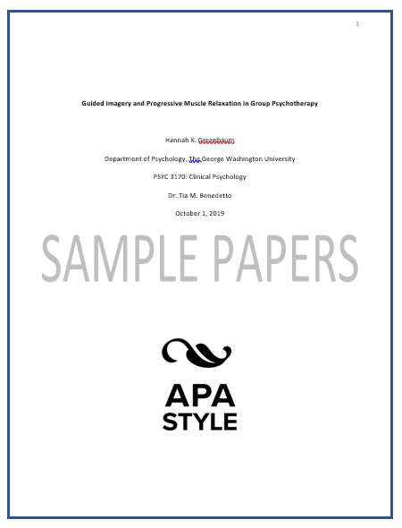 APA sample paper