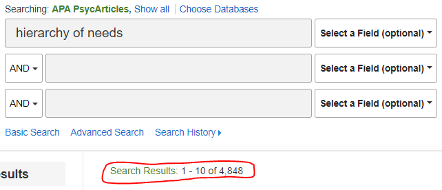 Search book with results number circled in red
