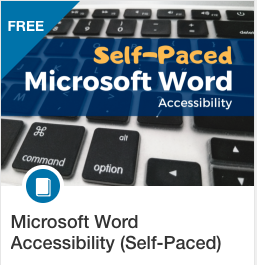 self paced MS Word course