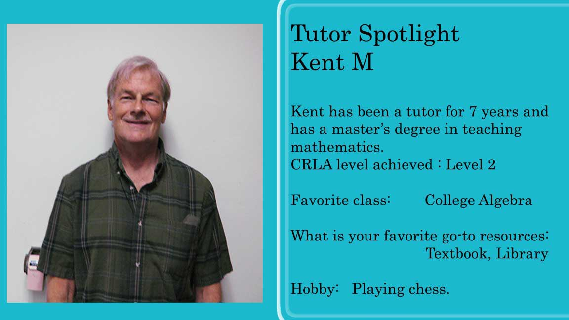 Picture of Tutor Kent and a little bio