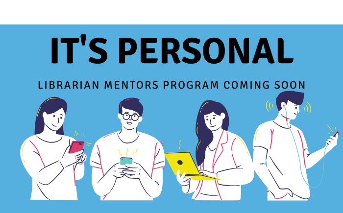 4 student images in banner about librarian mentoring