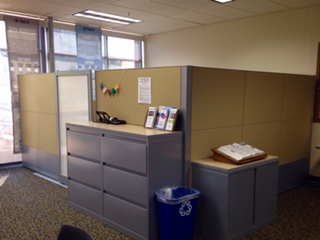 Cubicle around the Writing Center