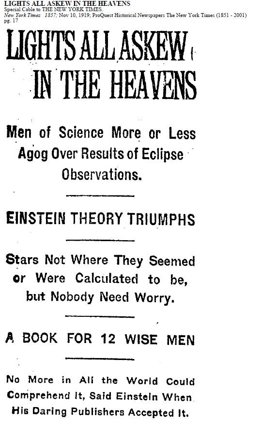 Einstein Throws Newton a Curve