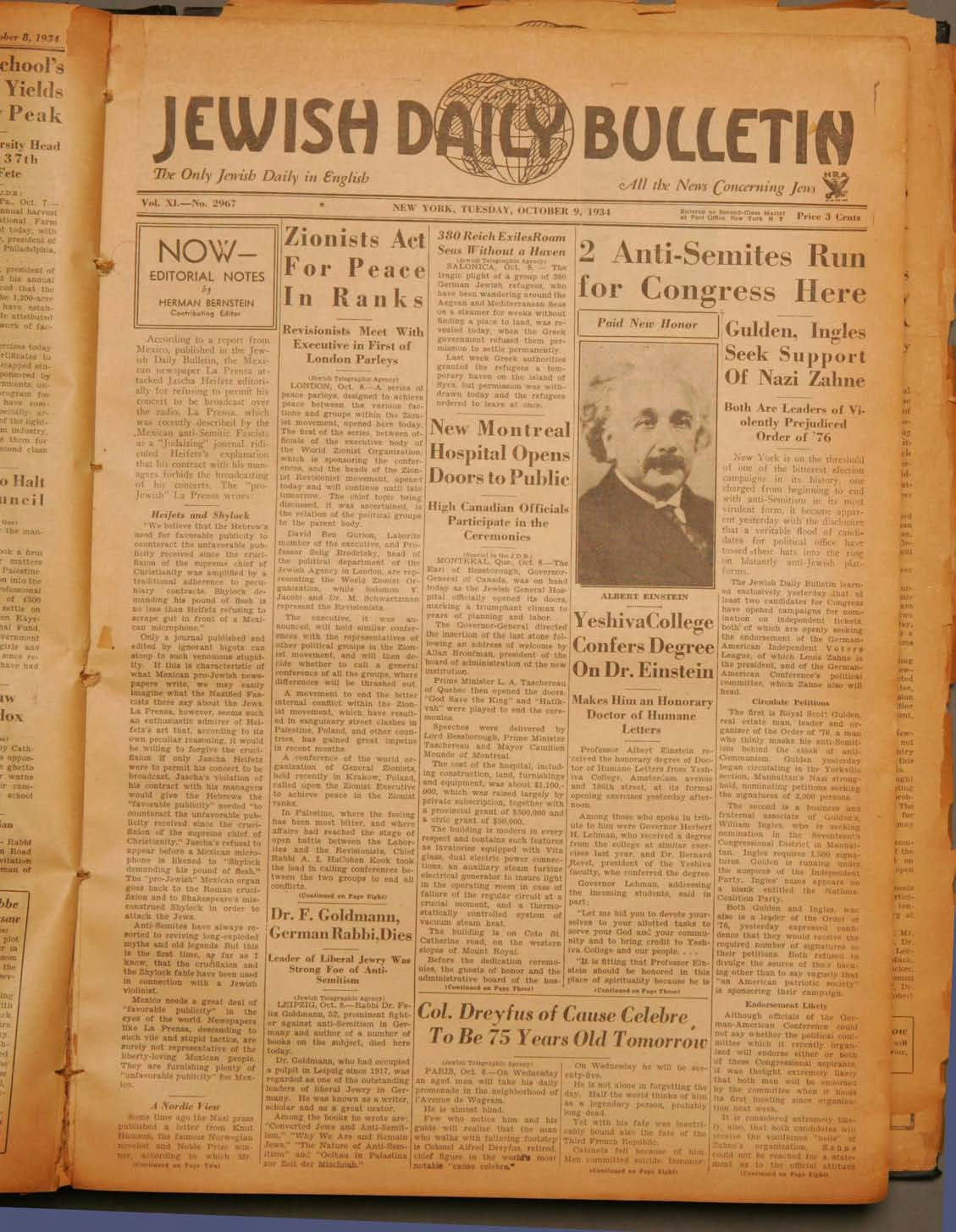 The Only Jewish Daily in English