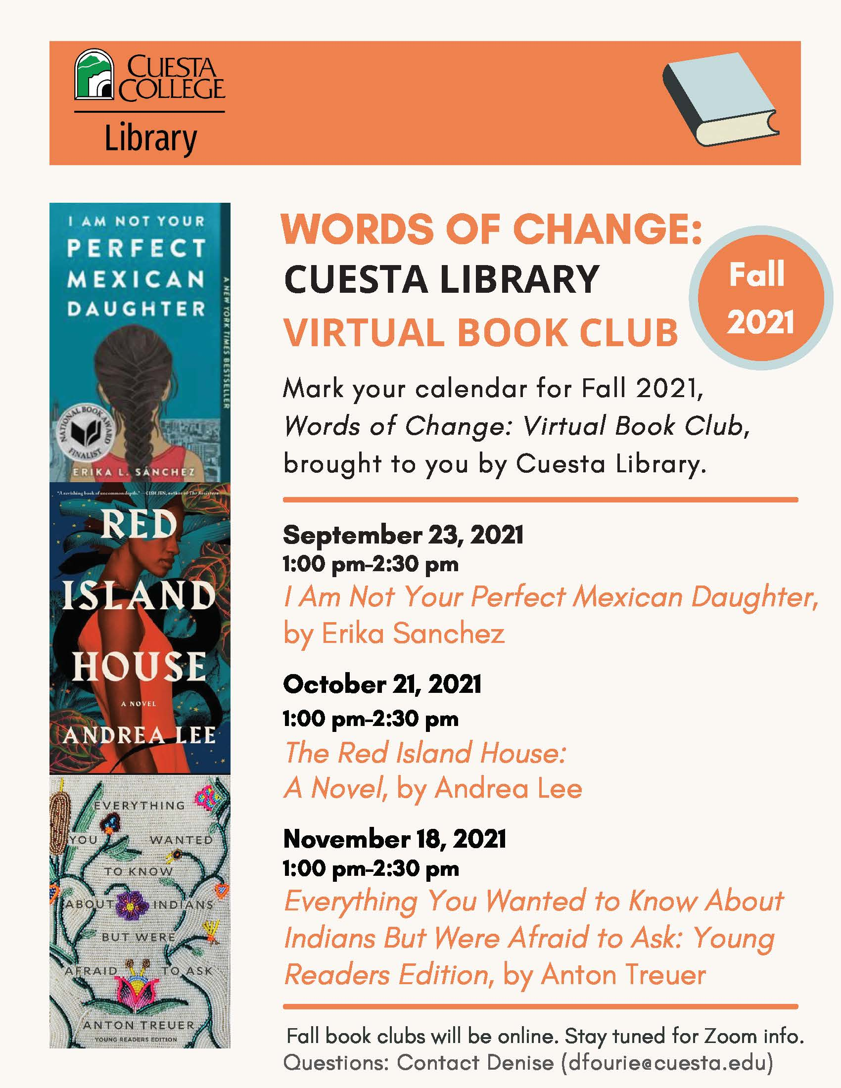 flyer for bookclub fall 2021