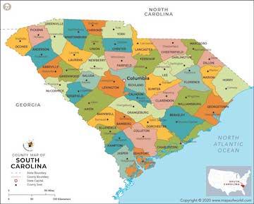 sm map South  Carolina