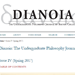 Screenshot of the Dianoia website