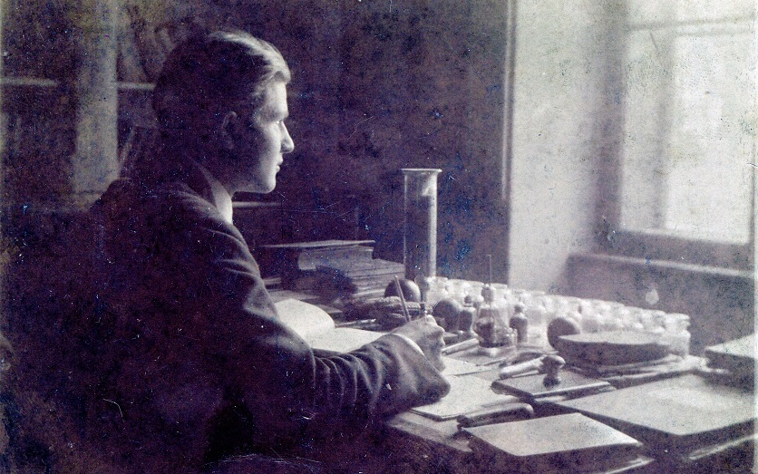 Milislav Demerec in his laboratory in Zagreb, Yugoslavia