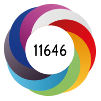 Altmetric donut displays equally sized stripes of all colors for an item with over 11,000 engagements