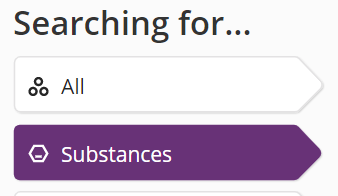 Substances tag selected on SciFinder-n opening search screen