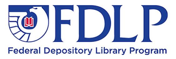 """FDLP: Federal Depository Library Program"" logo"