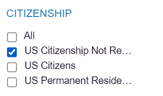 UCLA database - US Citizenship Not Required