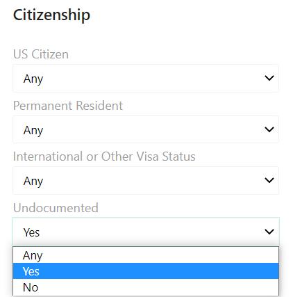 UW Citizenship - Undocumented