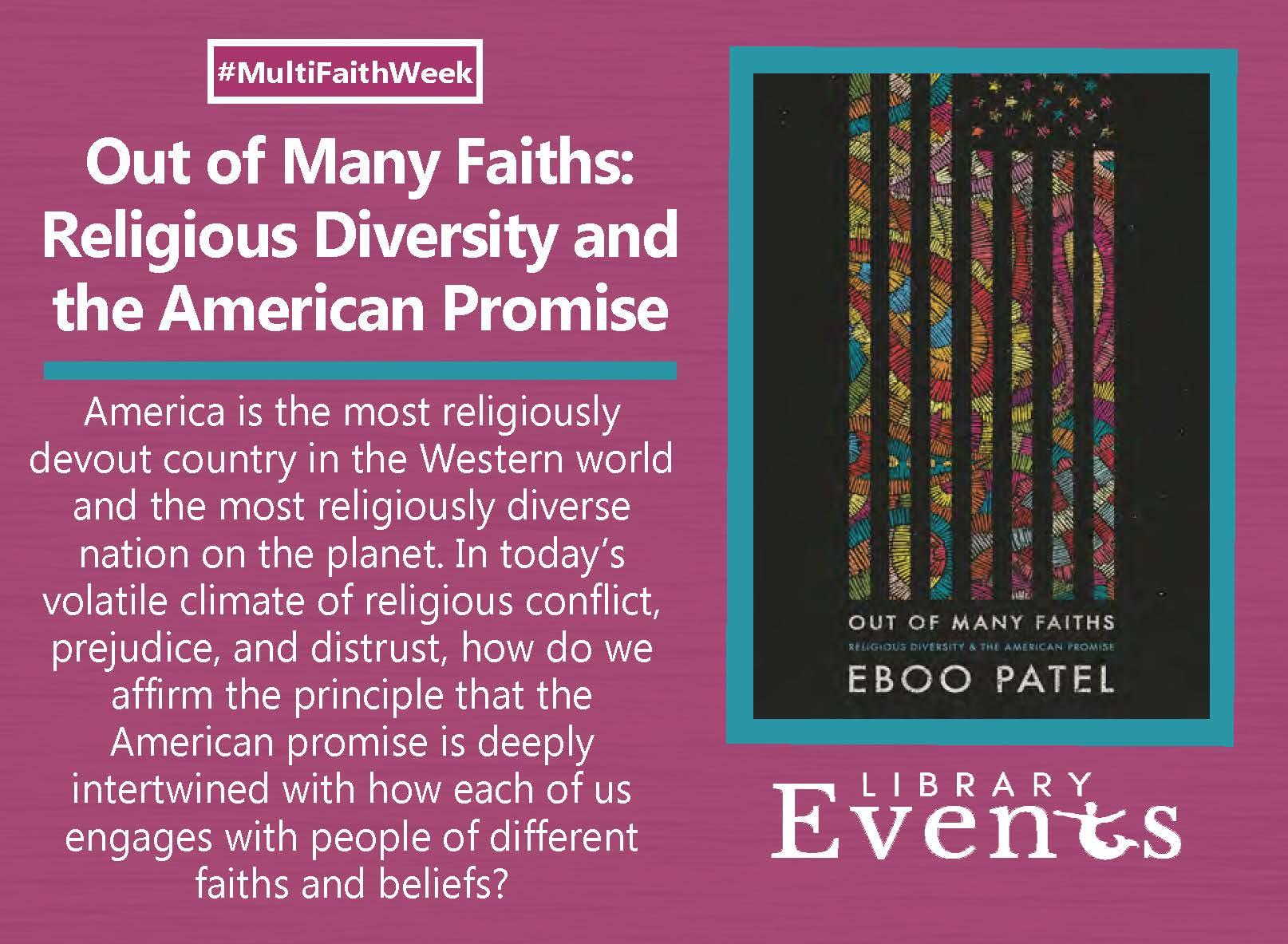 Multi-Faith Week ft. book - Out of Many Faiths