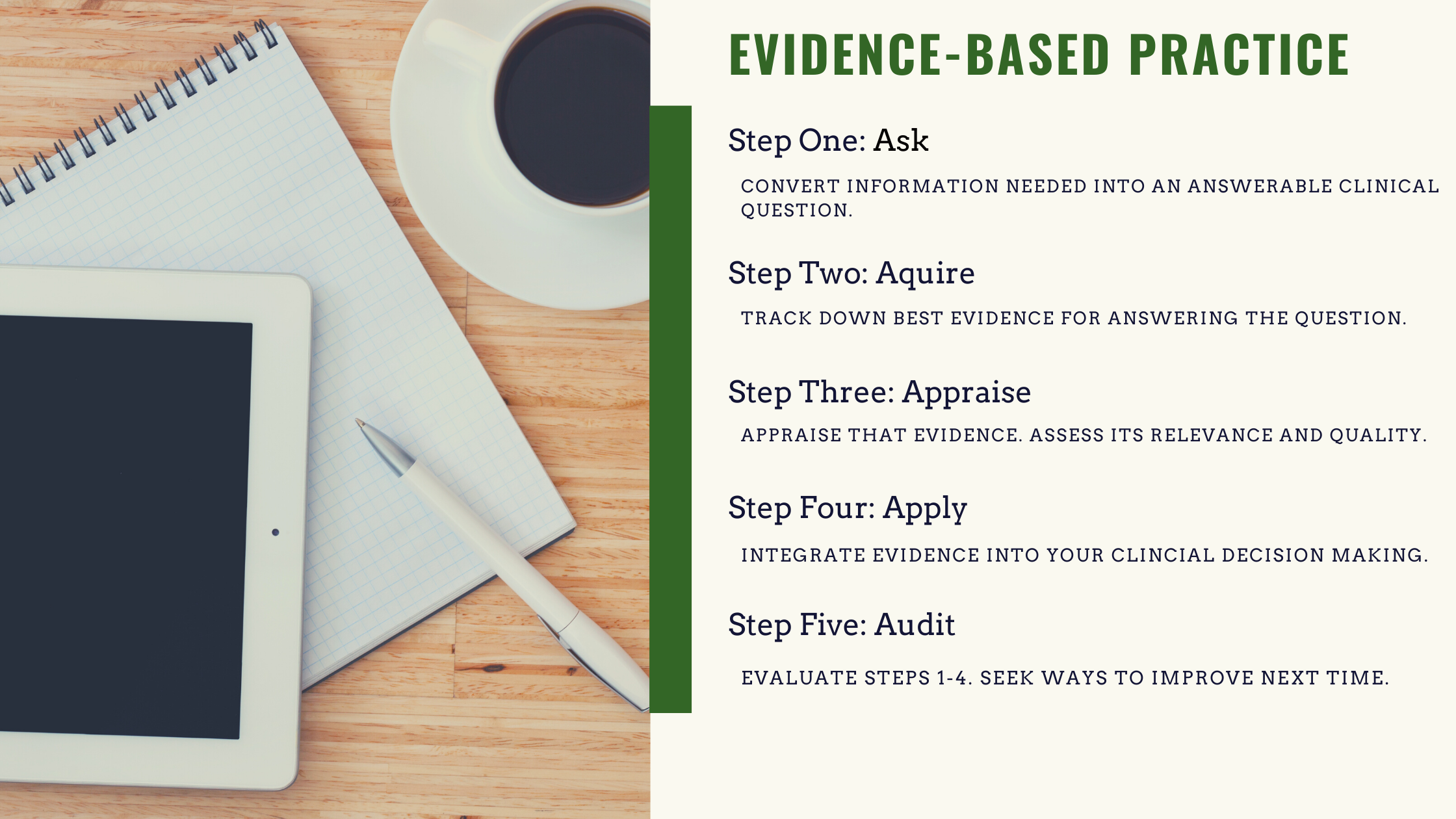 The Five Steps of Evidence-Based Practice