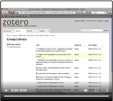 Zotero Groups image with hyperlink