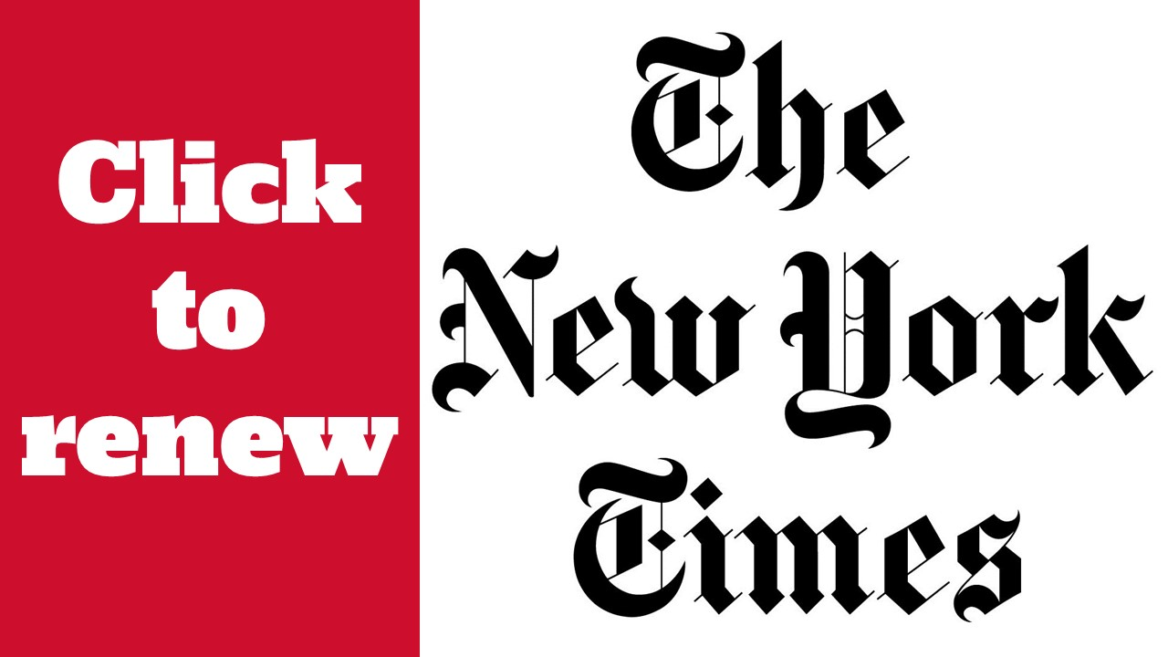 Renew the New York Times