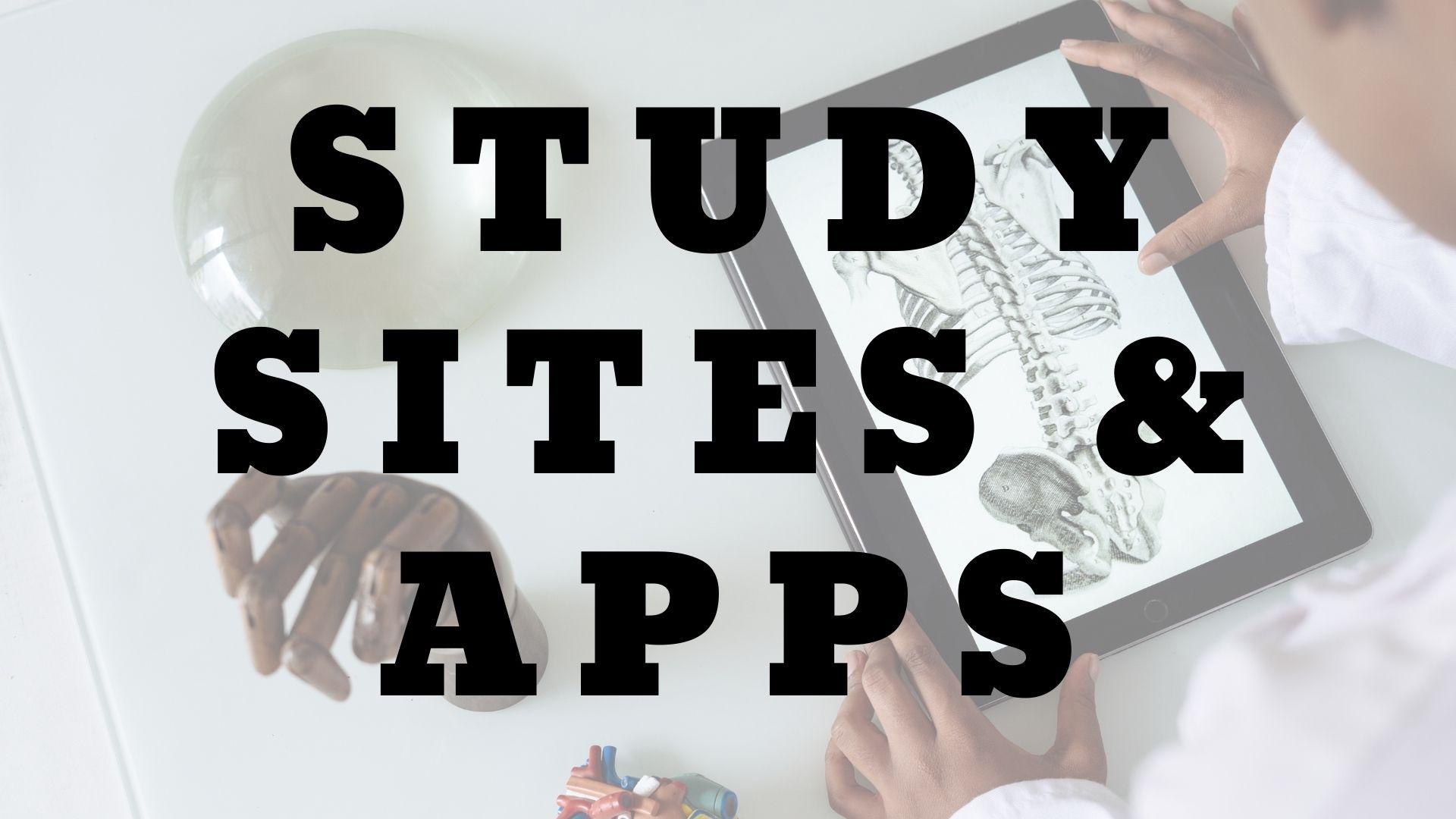 study sites & apps