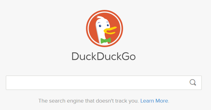 Logo for Duck Duck Go search engine