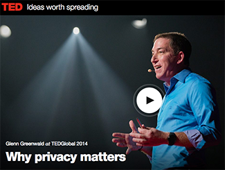 screenshot of Glenn Greenwald at TED