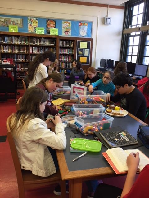 Maker Monday lunch with Legos